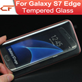 2.5d 9 h dureza galvanoplastia bumper 3d curvada superficie cubierta completa de vidrio templado película protectora para samsung galaxy s7 edge