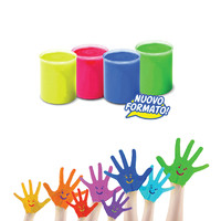 CARIOCA 6 Color Children S Finger Painting Safe Non Toxic Easy To Wash Baby Crayons Free