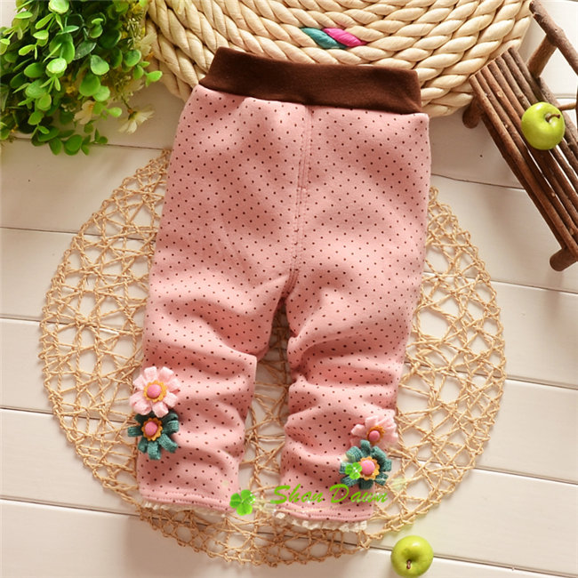 31514469159c8 Autumn and Winter Baby Girls Warm Leggings ,Babys Dot Flowers Thick/Thin  velvet Sweet Leggings Trousers,V1426-in Pants from Mother & Kids on  Aliexpress.com ...