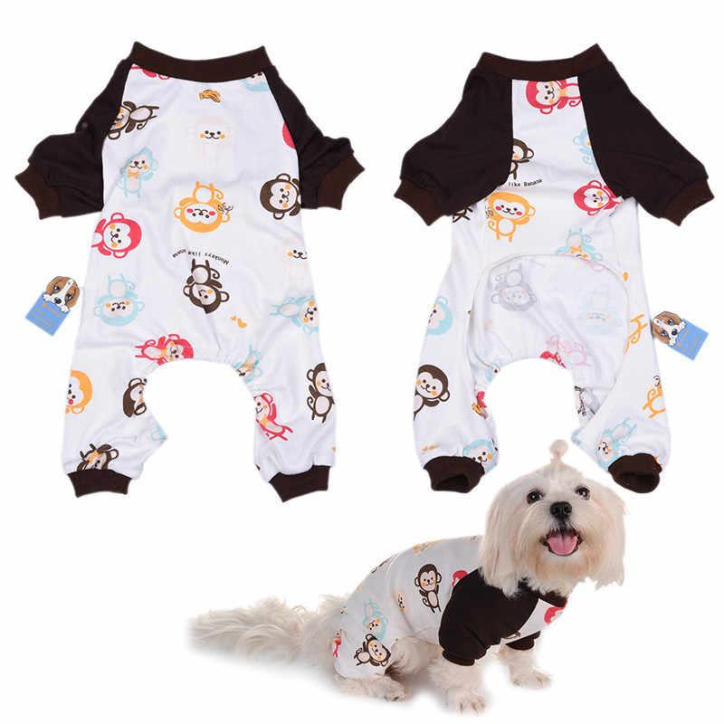 Милый рюкзак с изображением обезьяны собачья Пижама мягкие теплые уютные Домашние животные кошка щенок спальный комбинезон одежда