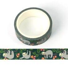 1X Cute Washi Tape Animal Sloth design DIY Planner Masking Tapes School Office Supplies