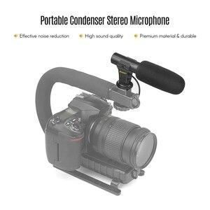 Image 5 - تبادل لاطلاق النار Xt 451 المحمولة مكثف ميكروفون ستيريو مع جاك 3.5 مللي متر الحذاء الساخن جبل ل كاميرا كانون كاميرا Dv الذكي