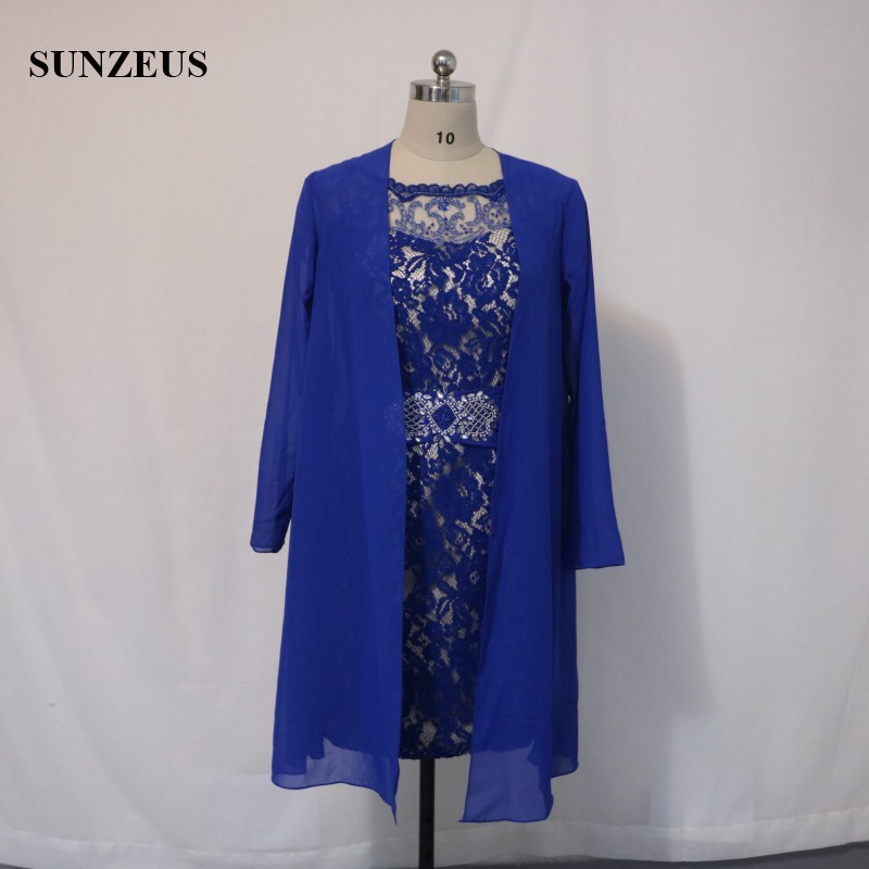 Vintage Lace Mother Of The Bride Dress With Chiffon Jacket