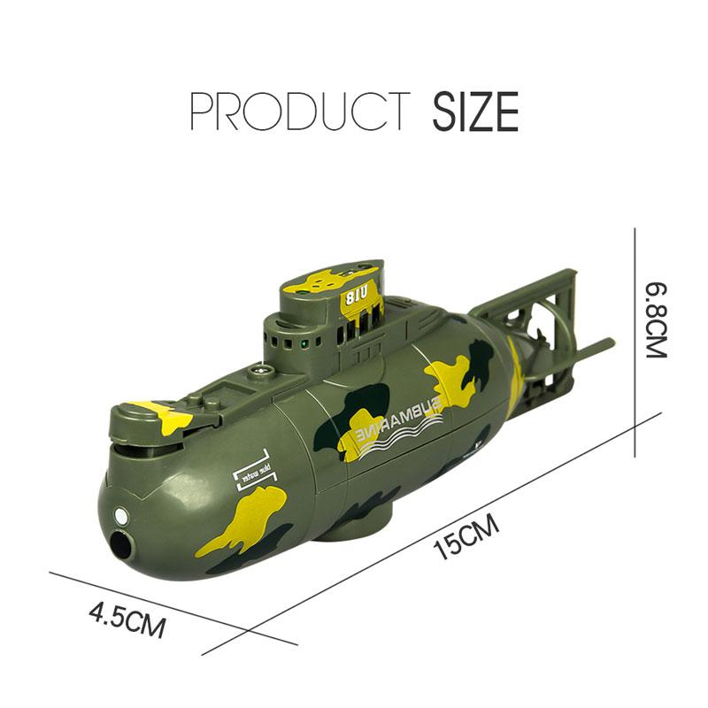 Image 5 - Mini Remote Control Simulation Submarine Model Camouflage RC Under Water Boat Submarine Bathtub Pools Toy Bath Toys for Kids-in RC Submarine from Toys & Hobbies