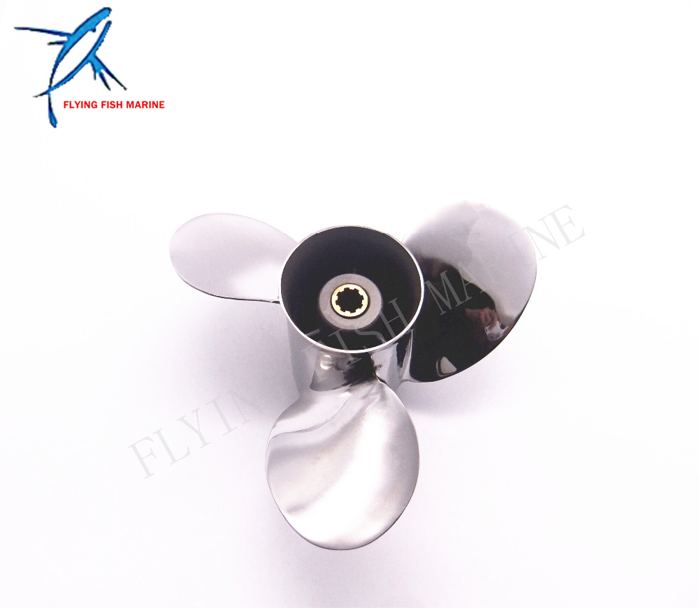 Outboard Engine Stainless Steel Propeller 9 1/4x11-J for Yamaha 9.9HP 15HP 9 1/4 x 11 -J 63V-45943, Fit Hidea Parsun 15hp Motors напольная плитка fanal ceylan teka 22x118
