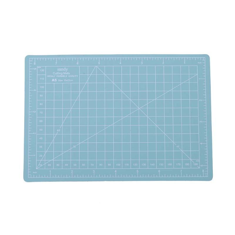 A5 Cutting Craft Mat PVC Self-Healing Office Home Paper DIY Tool Grid Lines Plastic Cut Pad Plate School Supplies Mint Green