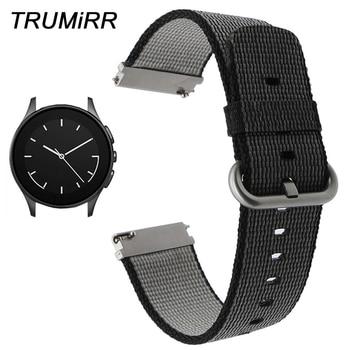 22mm Quick Release Nylon Horlogeband voor Vector Luna/Meridiaan Huawei Horloge 2 Klassieke Cookoo Smart Horloge Band Stof polsband