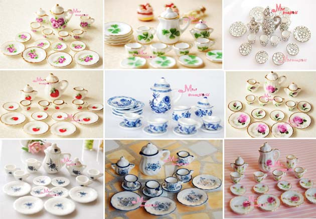 Lot of 15pcs Tea Cup Set NEW Dining Dish Plate ~ 1/12 Scale Dollhouse Miniature Furniture For Doll China Toy-in Dolls Accessories from Toys u0026 Hobbies on ... & Free Shipping!Lot of 15pcs Tea Cup Set NEW Dining Dish Plate ~ 1/12 ...