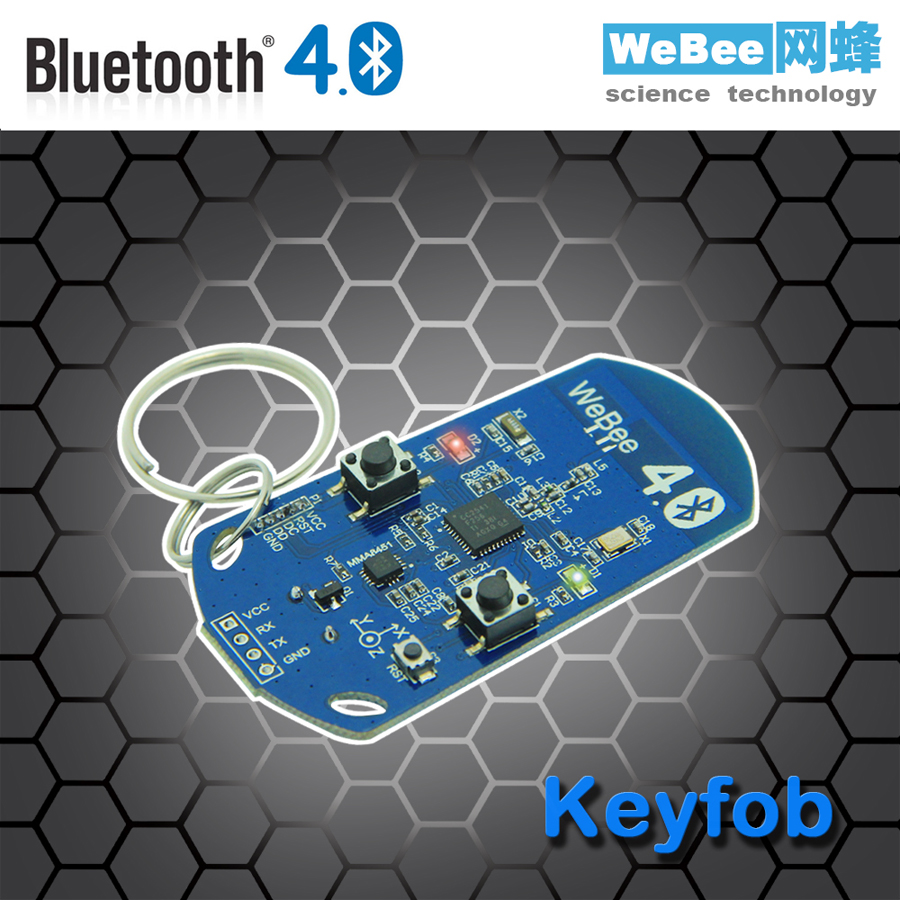 Bluetooth 4 BLE multifunction pedometer Keyfob development board to support the anti lost iBeacon hot da14580 ak bluetooth ble development board ibeacon millet bracelet lis3dh power industry