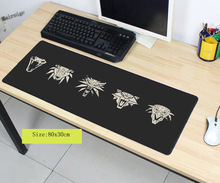 Mairuige  Rubber Anti-slip Mice Mat DIY Design Pattern Computer Large Overlock Mousepad Gaming The Witcher 3 Wild Hunt Mouse Pad