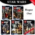 KSZ Rogue One Star Wars Figurinhas Jyn Erso K-2SO Scarif Chirrut Imwe Baze Malbus Figura de Brinquedo blocos de construção JOUETS