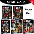 KSZ Rogue Uno Star Wars Figuras Jyn Erso K-2SO Scarif Chirrut Imwe Baze Malbus Figura de Juguete bloques de Construcción de construcción JOUETS