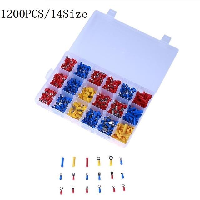1200PCS Mixed Assorted Lug Kit Crimp Connectors Insulated ...