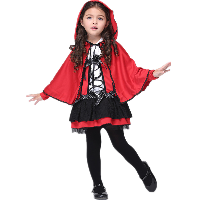 Halloween Costumes For Kids Girls 11 And Up.Us 19 76 15 Off Halloween Costumes Little Red Riding Hood Costume Kids Girls Age 3 11 Y O Red Hooded Cape And Dress In Girls Costumes From Novelty
