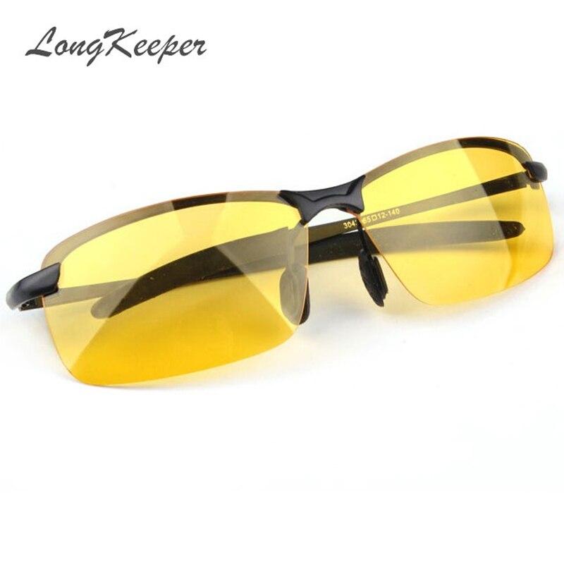 Nieuwe collectie Heren Bril Auto Drivers Nachtzichtbril Anti-Glare Polarizer Zonnebril Gepolariseerde Rijden Zonnebril