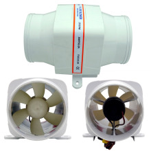 "ECO DC fan 4"" In-Line Marine Bilge Air Blower 12V 6Amp 270 CFM Quiet Boat White 12V Marine Bilge Air Blower"