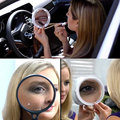 Косметической Моды 8X Увеличение LED Вращающиеся Присоски Зеркало Питания Удобно