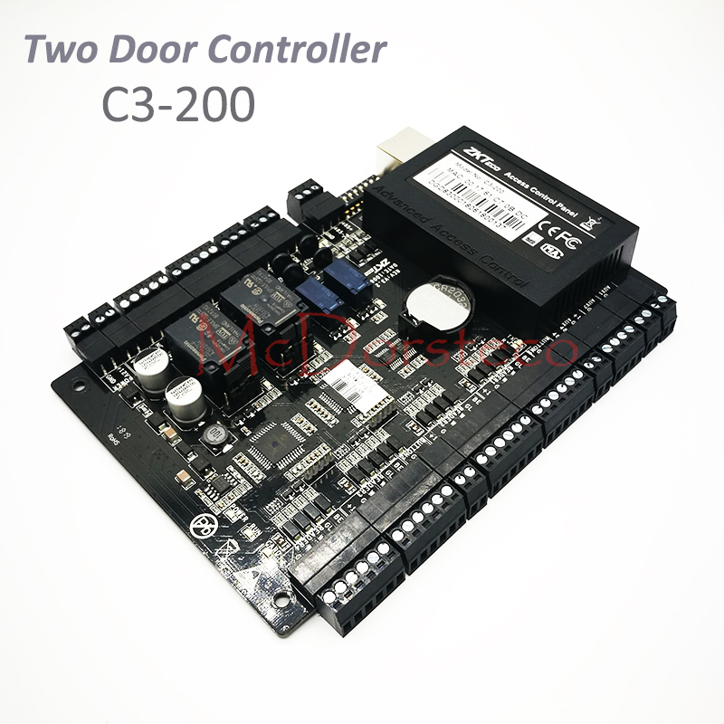 все цены на ZK C3-200 Tcp/Ip Rfid Card Access Control System Two door Security Access Controller Double Door Access Control Panel