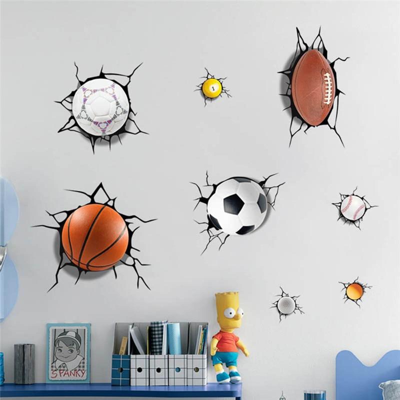 1pcs Kids Room Sports Balls Wall Stickers Creative Sporting Balls Wall Sticker for Living Room Home Decor Wall Sticker
