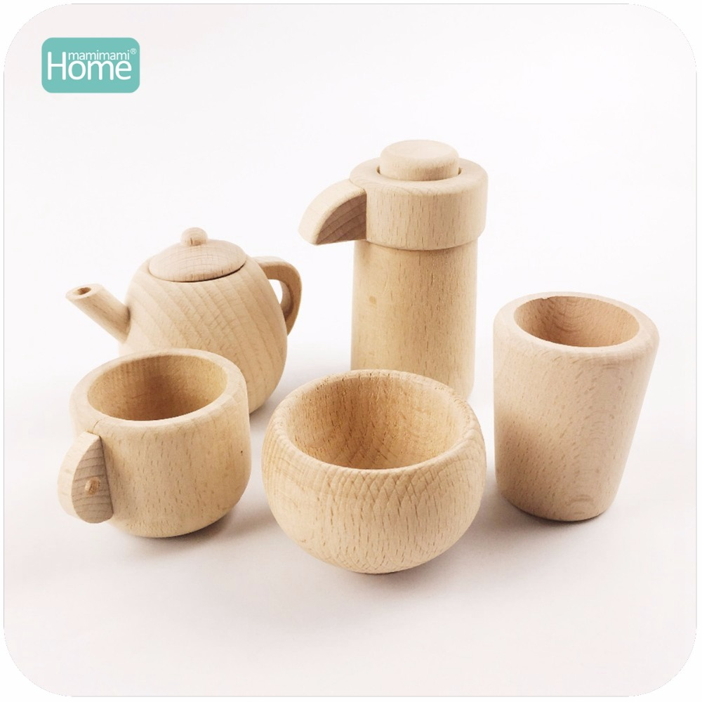 MamimamiHome Wooden Cutlery Set Montessori Inspired Pretend Play Kitchen Toy Natural Wood Toy Kids Toys