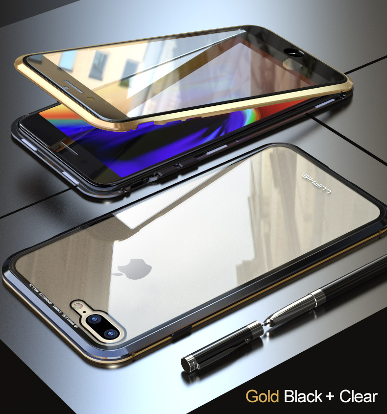 LUPHIE 360 Full Magnetic Case For iPhone X XS Max XR 8 7 Plus glass case (16)