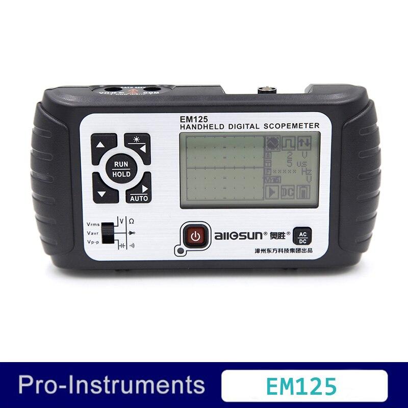 EM125 Todo o Sol 2 em 1 25 MHz Multifunct Handheld Scopemeter Osciloscópio Multímetro Voltímetro Ohmímetro Capacitância Frete Grátis