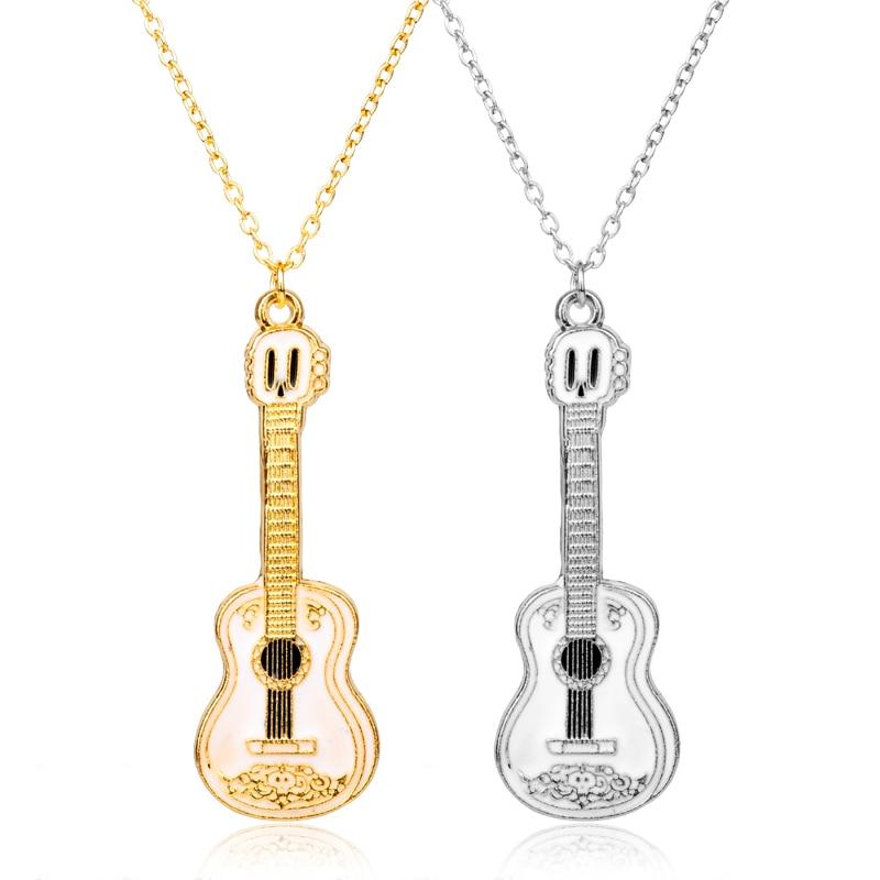Film Coco Pixar ogrlica kitara obesek ročno izdelana vrv verižica - Modni nakit