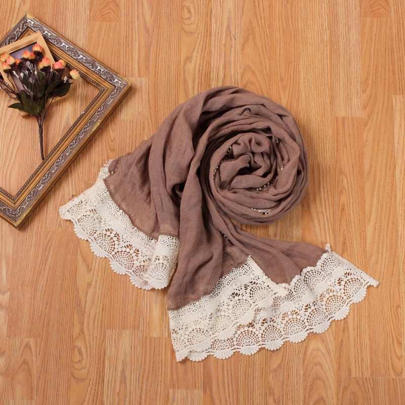 森ロリータカワイイ冬スカーフカジュアルレーススカーフイスラム教徒の女の子デザイナーモン族スカーフ·スワップショールイスラムモンロー森かわいいスカーフ