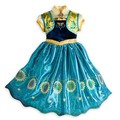 Retail Promotion 2017 1pc New Anna Girl Dresses With Sunflower For Birthday Elsa Party Dress Princess For Kids Clothes 4-8y