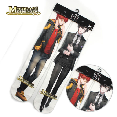 "4x16"" Game Mystic Messenger 707 Jumin Short Cotton Socks Colorful Stockings Tights Cosplay Costume Unisex Fashion Gift Cool"