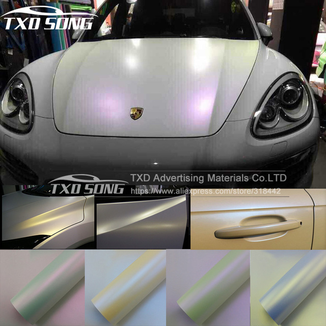 Strong strechable white chameleon matte sticker white to purple with air  free bubbles 1.52 20m a59c528bea0e