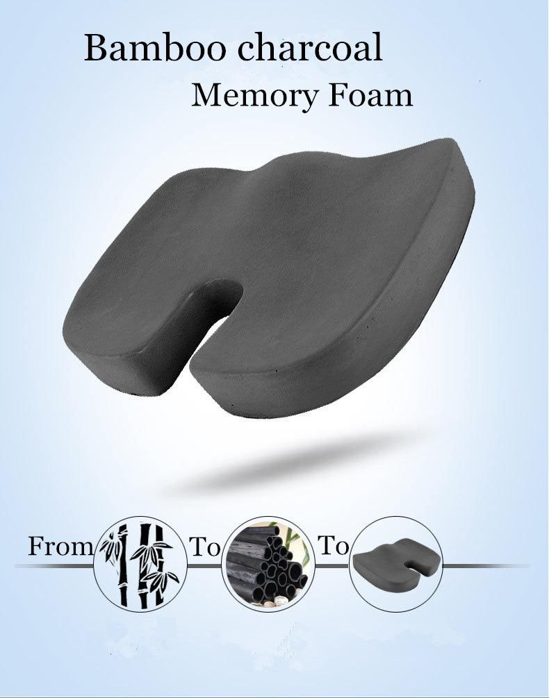 HTB1Vqoeg3KTBuNkSne1q6yJoXXau PurenLatex 45*35*7 Hot Sale Slow Rebound Bamboo Charcoal Memory Foam Chair Car Seat Hips Pillow Tailbone Coccyx Protect Cushion