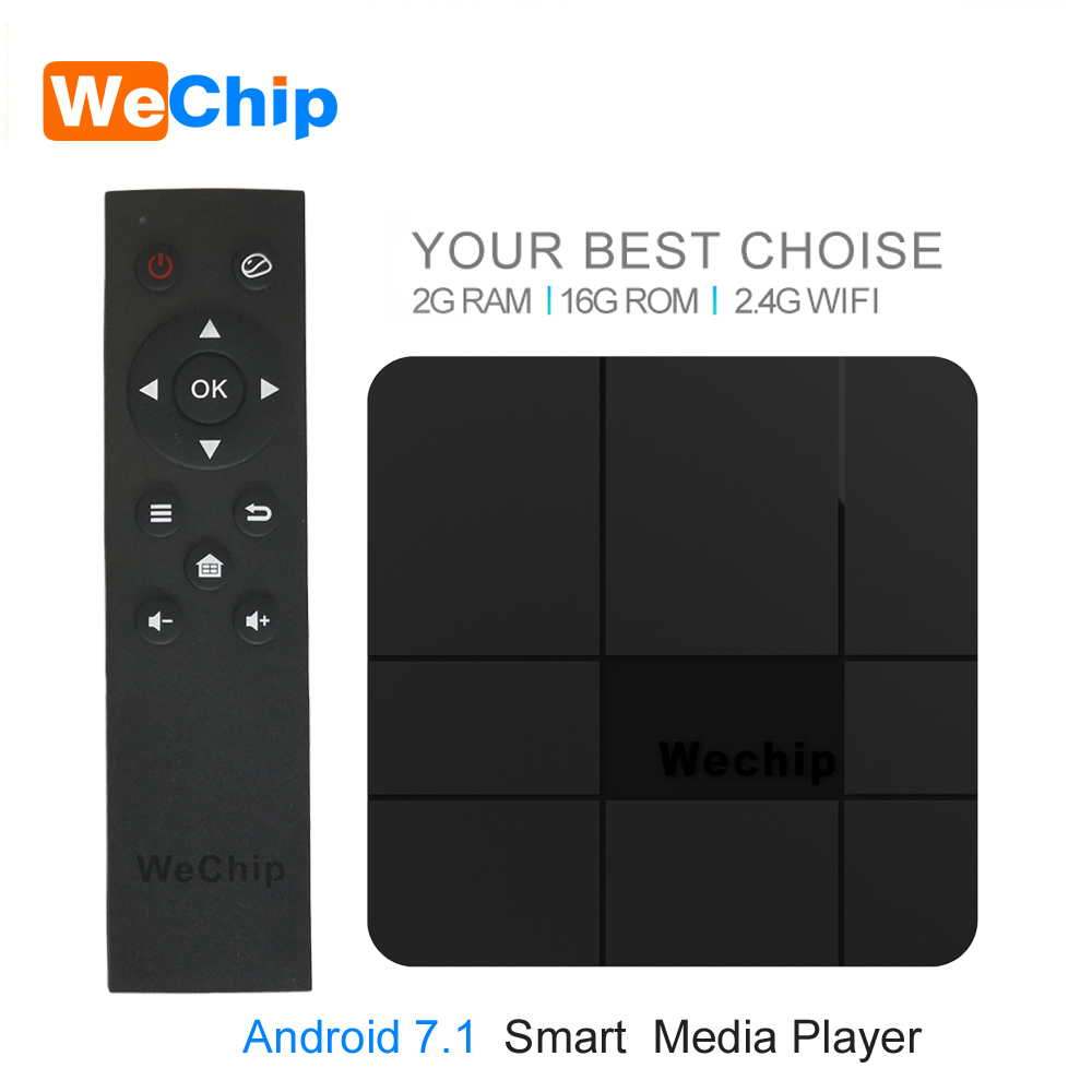 Wechip V8 Smart Android 7.1 TV BOX Amlogic S905W 2GB 16GB 2.4G Wifi 4K*30FPS Media Player Google Player YouTube Set Top Box