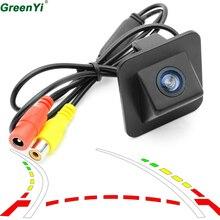 GreenYi вспять траектория треков автомобиля Камера для 2012 hyundai Elantra Avante заднего вида Камера обратный резервный Парковка