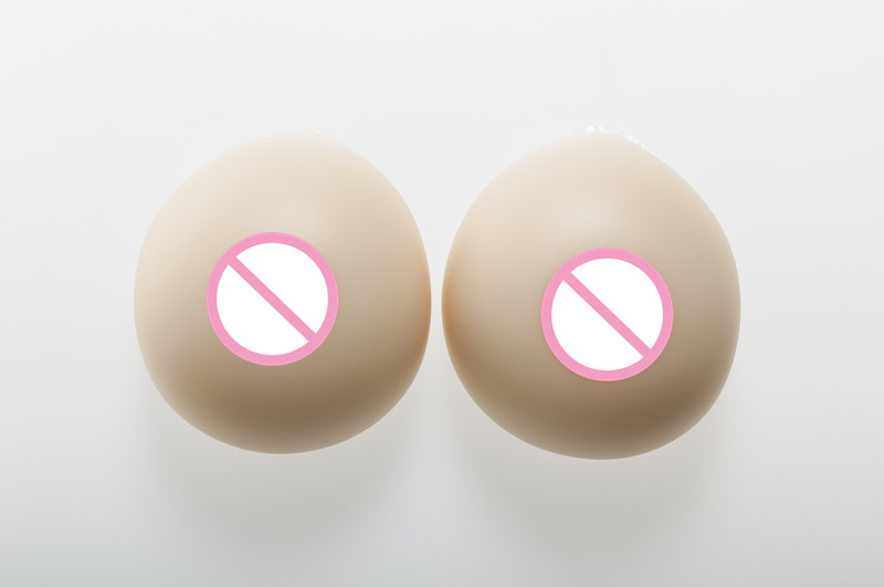 Buy 4100g/pair/Cup White Round Silicone Fake Breast Crossdresser False Boobs Breast forms Realistic Raise Nipple