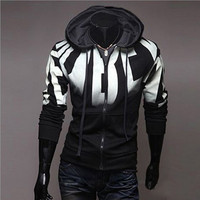 Brand 2017 Hoodie Zipper Gradient Cardigan Hoodies Men Fashion Tracksuit Male Sweatshirt Hoody Mens Purpose Large
