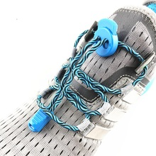 Stretching Lock lace 7 colors a pair Of Locking Shoe Laces Elastic Sneaker Shoelaces Shoestrings Running/Jogging/Triathlon