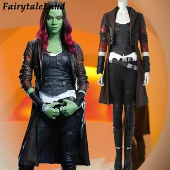 Guardians of the Galaxy 2 Gamora cosplay costume superhero Halloween costume for adult costom made cosplay Gamora costume suit - DISCOUNT ITEM  15% OFF All Category