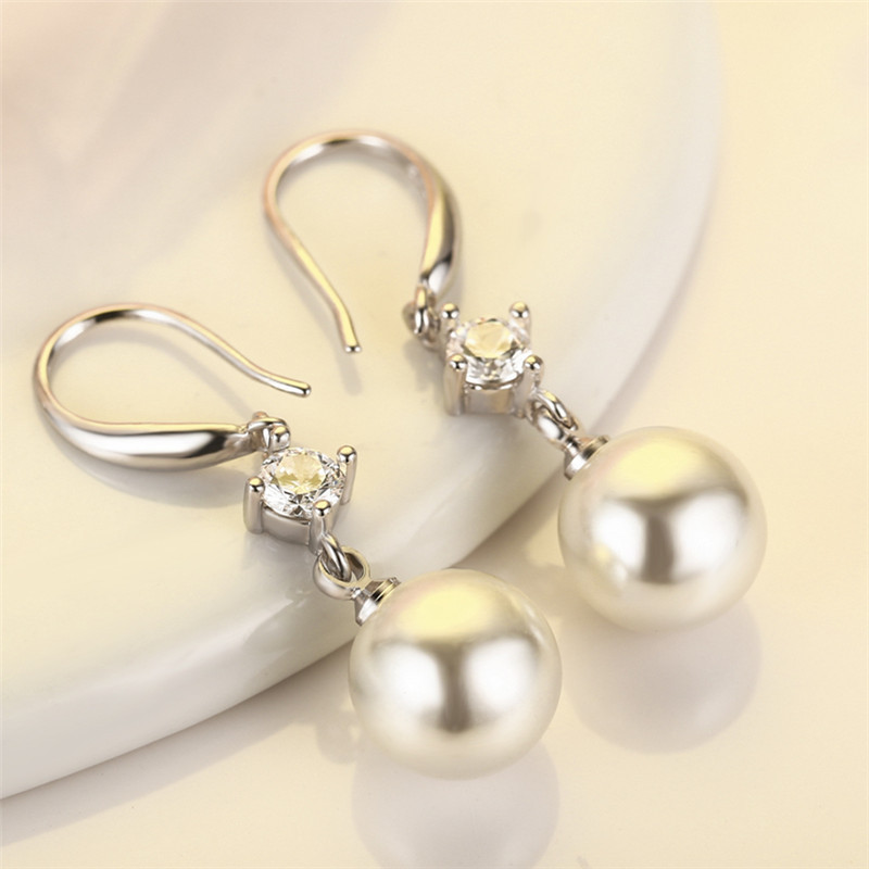 quality guarantee simulated pearl platinum plated dangle