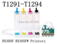 Ciss sistema de abastecimento contínuo de tinta para epson stylus s22 sx125 t1281 sx130 sx230 sx235w sx420w sx425w sx430w sx435w impressoras