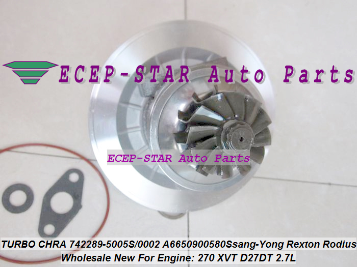 Turbo Cartridge CHRA GT2056S 742289 742289-5001S 742289-0003 742289-0002 A6650901280 For Ssang Yong Rexton Rodius 270 XVT D27DT блуза jacqueline de yong jacqueline de yong ja908ewxaf30