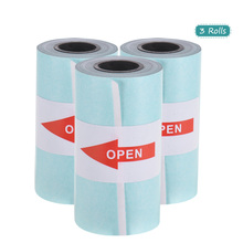 Buy 3 Rolls White Printable Sticker Paper Roll Direct Thermal Paper with Self-adhesive 57*30mm(2.17*1.18in) for PeriPage directly from merchant!