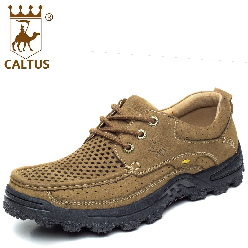 CALTUS Boys Casual Shoes Soft Footwear Classic Flats Men Genuine Leather Spring Autumn Breathable Driving Shoes AA20533 caltus casual shoes men breathable new fashion oxfords men flats genuine leather spring autumn breathable driving shoes aa20518