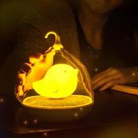 1 шт.  креативный  милый  птичий светильник  светодиодный  ночник  перезаряжаемый  сенсорный  диммер  настольный  птичий светильник  новинка  Д...