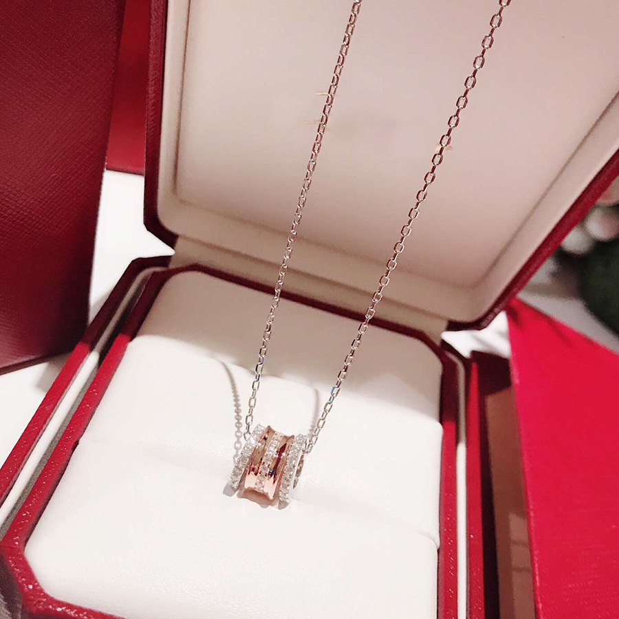 2019 Fashion Brand Pure 925 Sterling Silver Necklace Pendant Crystal Luxury Jewelry For Women Wedding Party Daily Gift