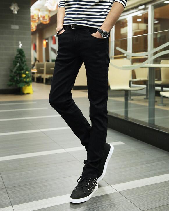 New Fashion Jeans Men 2018 Slim Fit Straight Denim Trousers Black Skinny Jeans Men Business Pants Male Casual Cotton Jeans