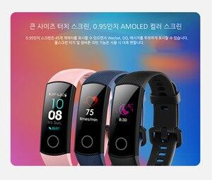 Image 3 - Смарт браслет Huawei Honor Band 4 0,95 цветной Amoled сенсорный экран для плавания 50 м водонепроницаемый датчик пульса и сна