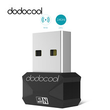 dodocool Wifi Antenna Wireless 150Mbps Adapter Network Card N150 Mini USB 2.0 Portable Adaptador 2.4GHz Wi-Fi Dongle 802.11n/b/g(China)