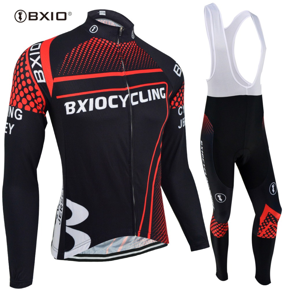 BXIO Brand Winter Thermal Fleece Cycling Clothing Sets Pro Team Bike Downhill Jersey Skinsuit MTB Sport Wear Roupas De Ciclismo mtb pro team skinsuit cycling men 2018 summer short sleeve skinsuit bike mtb bicicleta cycling sets rennrad trikot set herren
