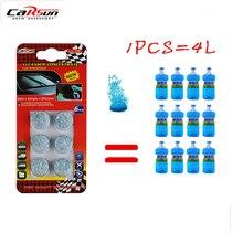 6 unidades/pacote (1 pçs = 4l água) novo carro sólido limpador fino carro auto janela de limpeza carro pára brisa vidro mais limpo